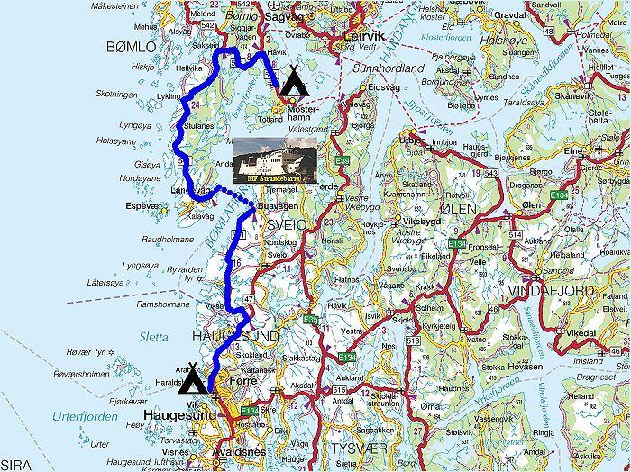 kart haugesund Torstein Reiersen   Bergen   Stavanger   august 2004 kart haugesund