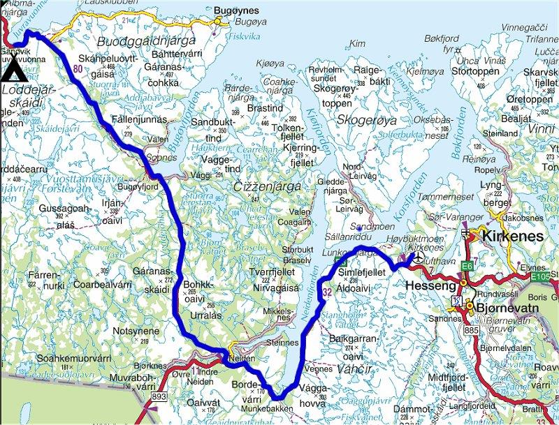kart over kirkenes Torstein Reiersen   Kirkenes   Kautokeino og Finnsnes   Grong kart over kirkenes