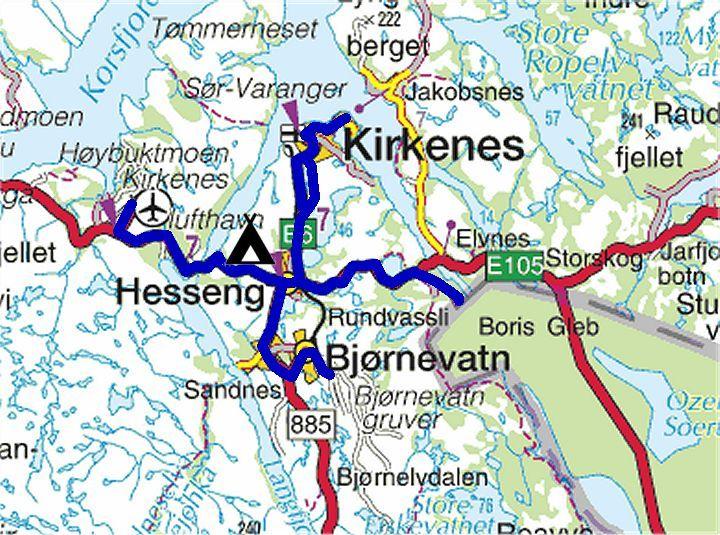 kirkenes kart Torstein Reiersen   Nordkapp   Mo i Rana 2004 kirkenes kart