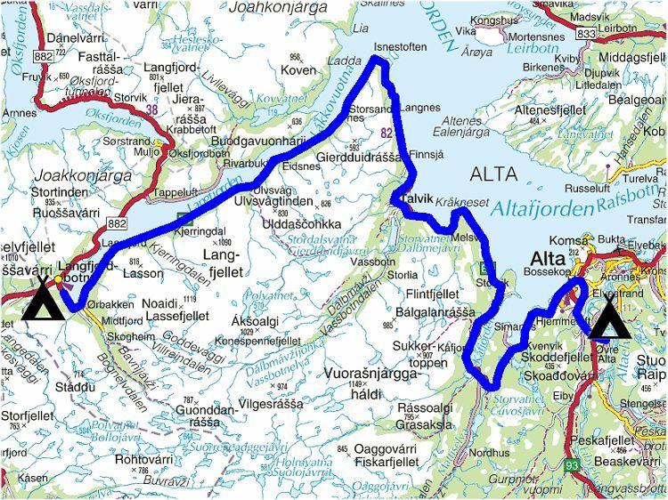 kvænangsfjellet kart Torstein Reiersen   Nordkapp   Mo i Rana 2004 kvænangsfjellet kart