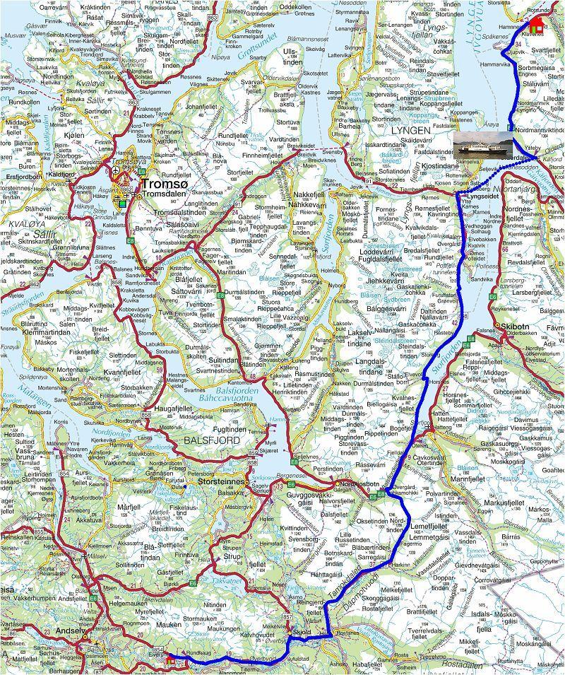 kart over altaelva Torstein Reiersen   Nordkapp   Mo i Rana 2004 kart over altaelva