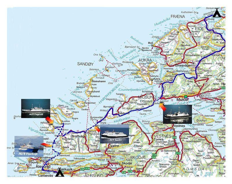 kart midsund Torstein Reiersen   Trondheim   Bergen år 2001 kart midsund