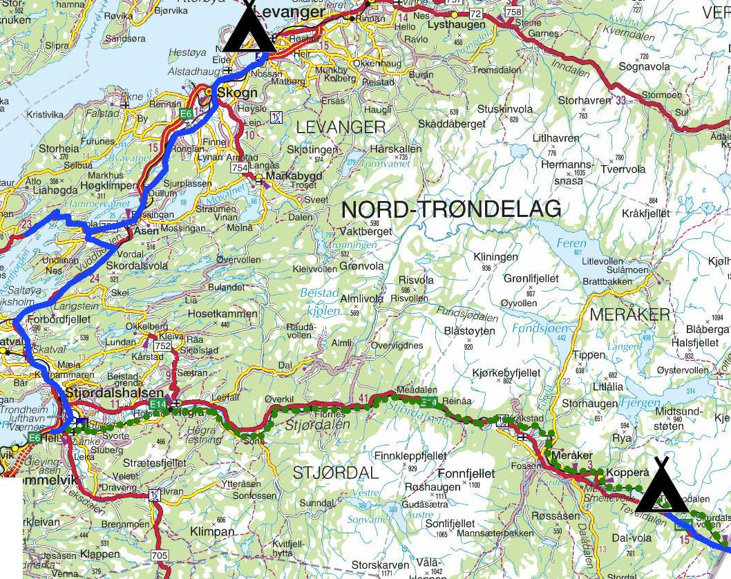 kart namdalen Torstein Reiersen: Fra Grong til Åndalsnes med avstikkere kart namdalen