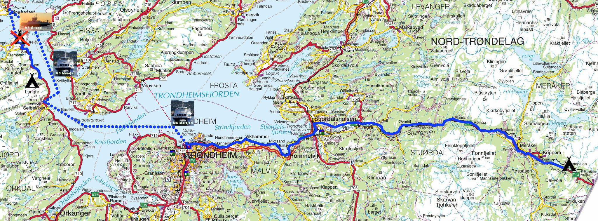 brekstad kart Torstein Reiersen: Fra Grong til Åndalsnes med avstikkere brekstad kart