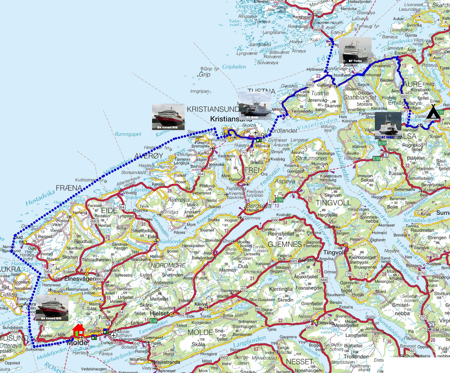 kart over flatanger Torstein Reiersen: Fra Grong til Åndalsnes med avstikkere kart over flatanger