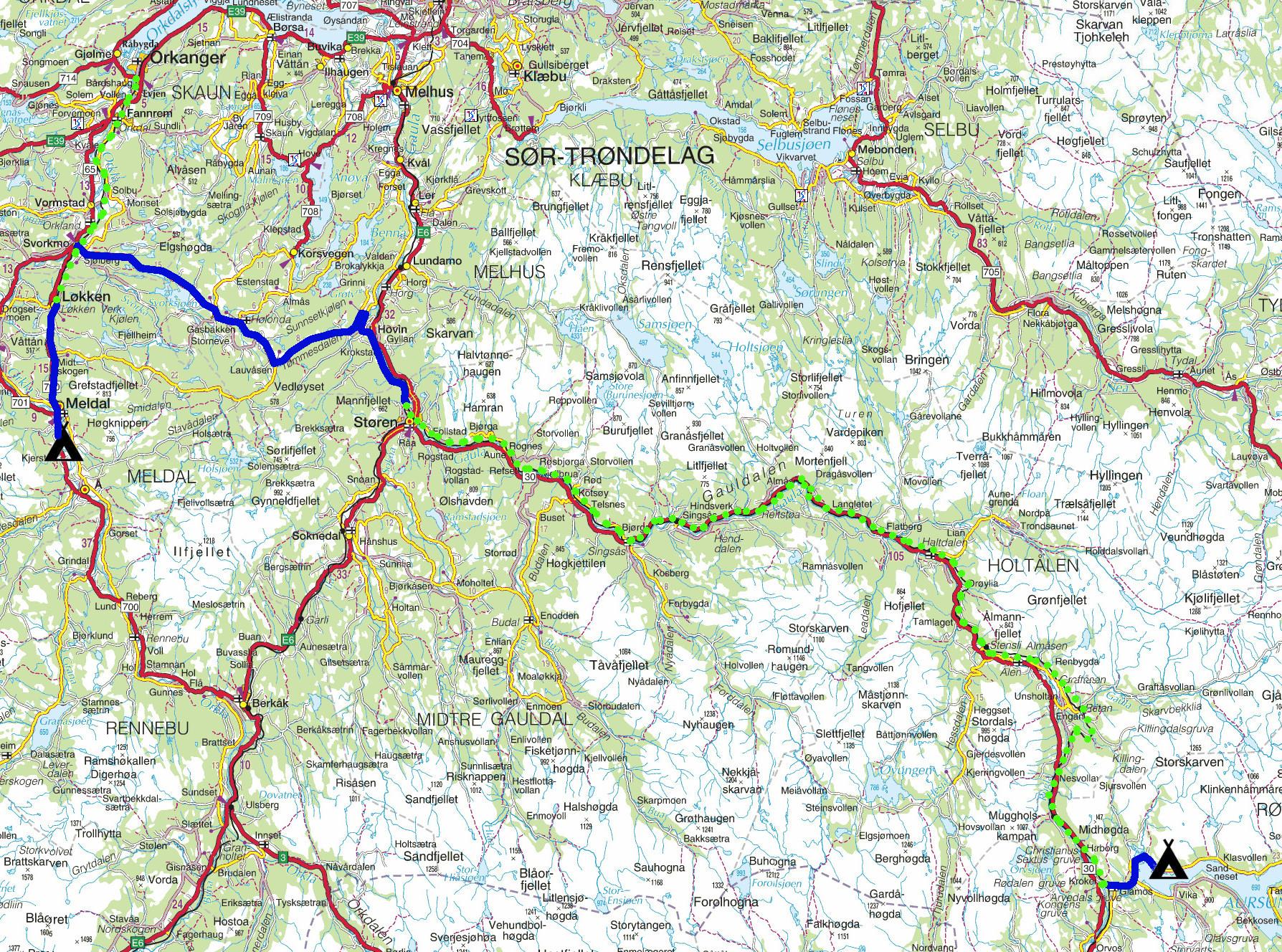 støren kart Kart Berkåk | Kart