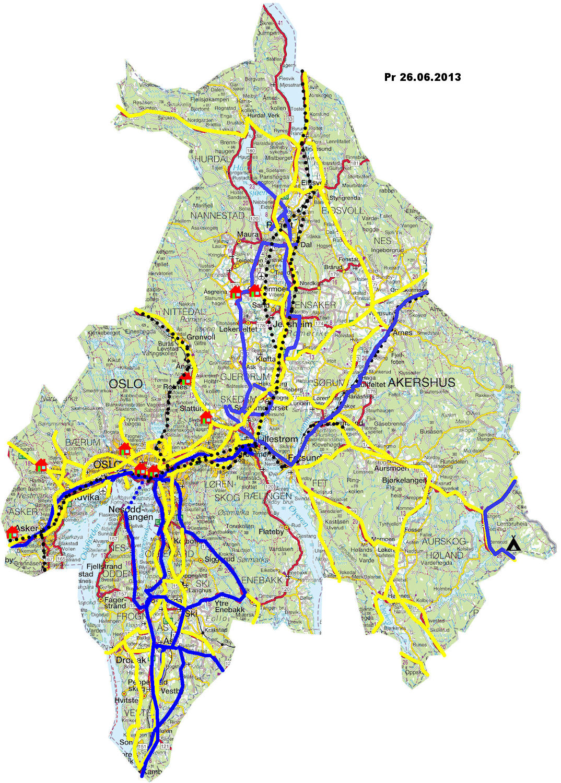 oslo og akershus kart Torstein Reiersen: Fylker/Sykkelturer oslo og akershus kart