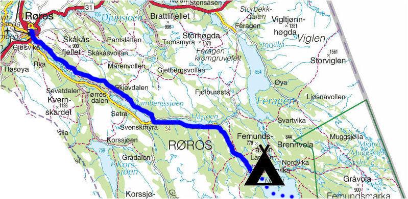 kart røros Torstein Reiersen: 'Fra Røros til Kongsvinger kart røros