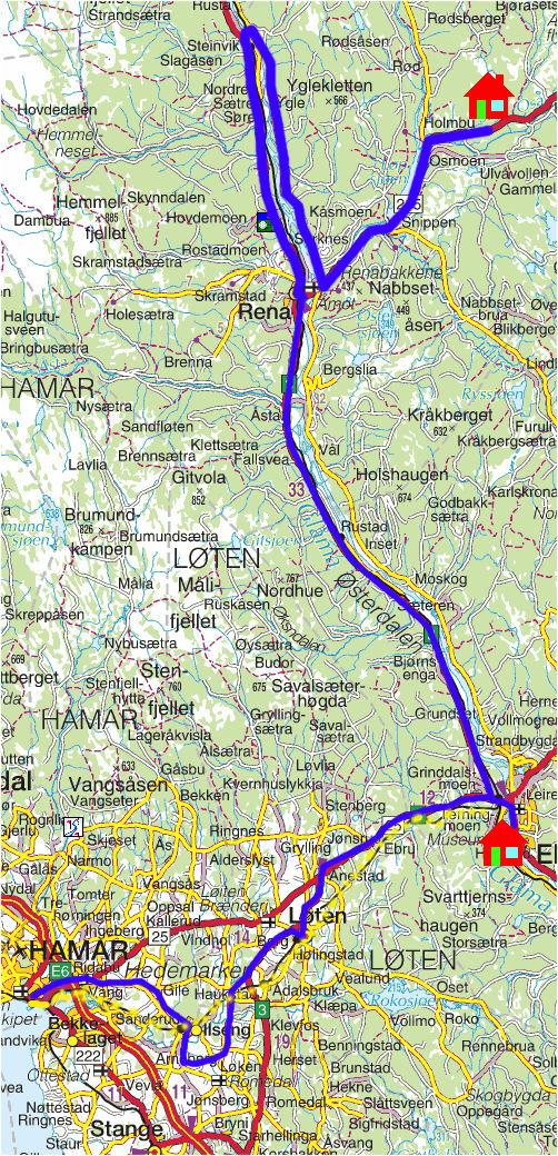 kart over elverum Torstein Reiersen: 'Fra Røros til Kongsvinger kart over elverum