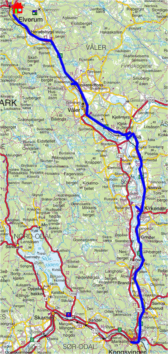 glomma kart Torstein Reiersen: 'Fra Røros til Kongsvinger glomma kart