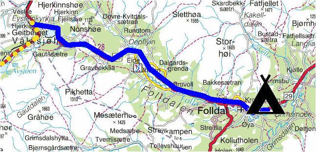 kart hjerkinn Torstein Reiersen: Indre Østland kart hjerkinn