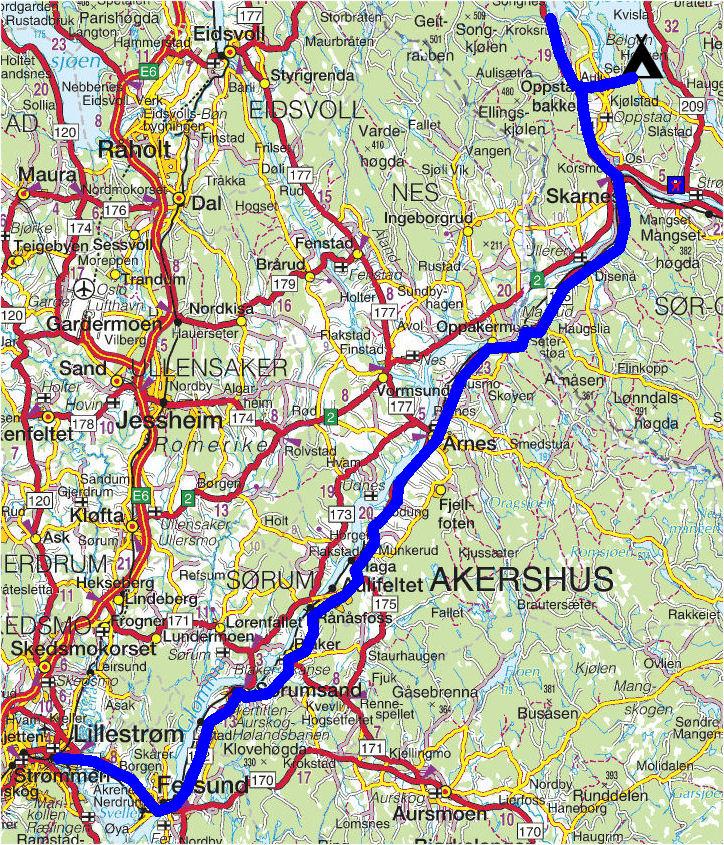 lillestrøm kart Torstein Reiersen: Mysen   Rømskog   Lillestrøm, lillestrøm kart