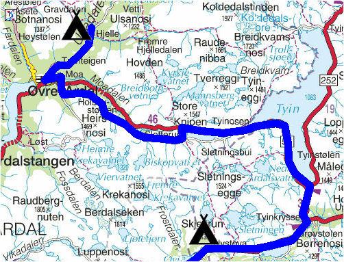 tyin kart Torstein Reiersen: Gol   Årdal   Fagernes   Dokka  Hønefoss og Flå  tyin kart