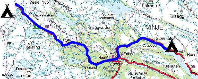 kart haukeli Torstein Reiersen: Bergen   Rosendal   Odda   Sauda   Haukeli  kart haukeli