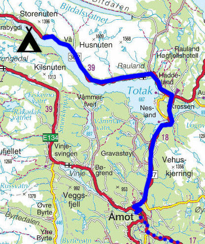 kart rauland Torstein Reiersen: Bergen   Rosendal   Odda   Sauda   Haukeli  kart rauland