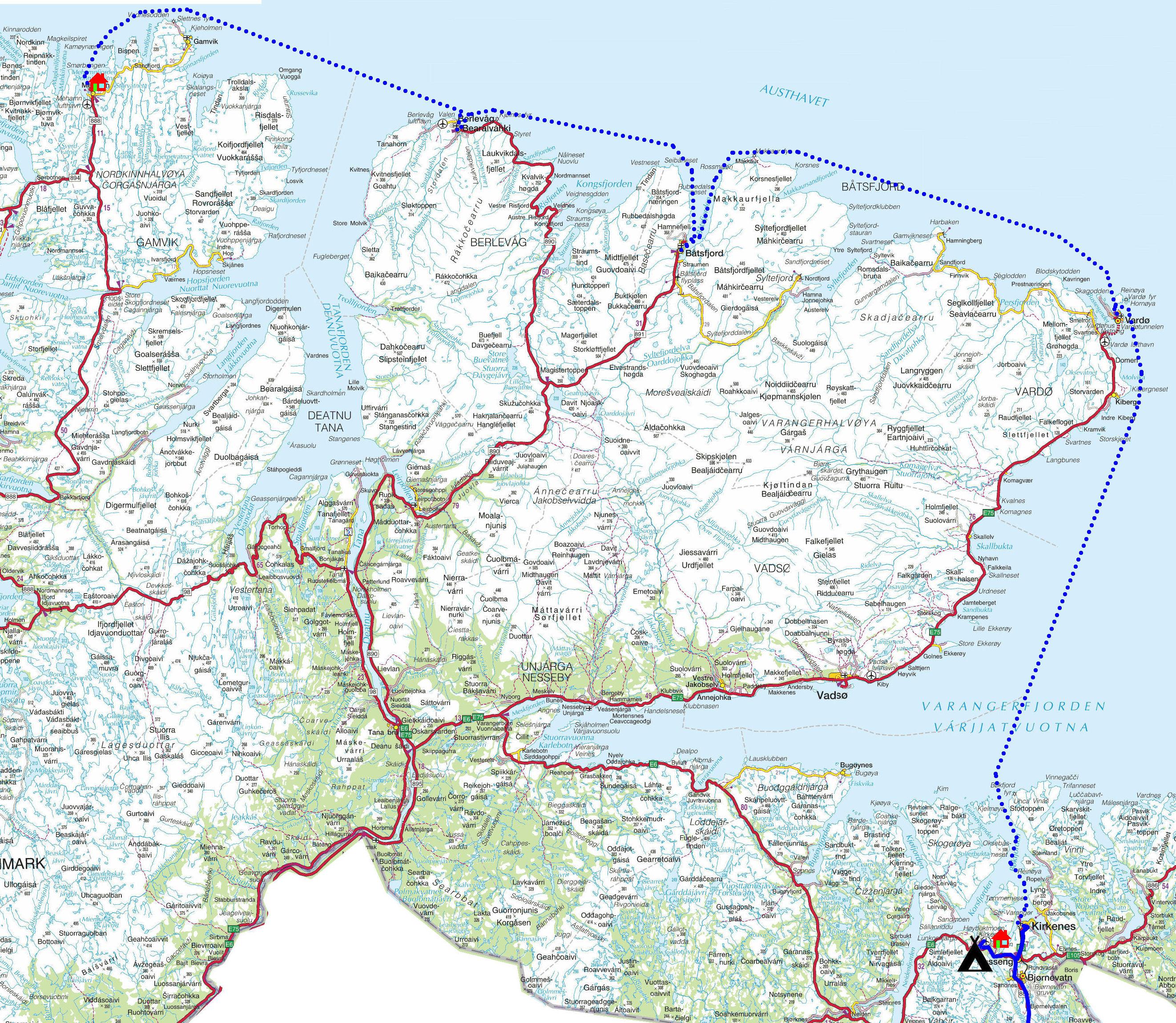 kart over kirkenes Torstein Reiersen: På kryss og tvers i Finnmark 2012 kart over kirkenes