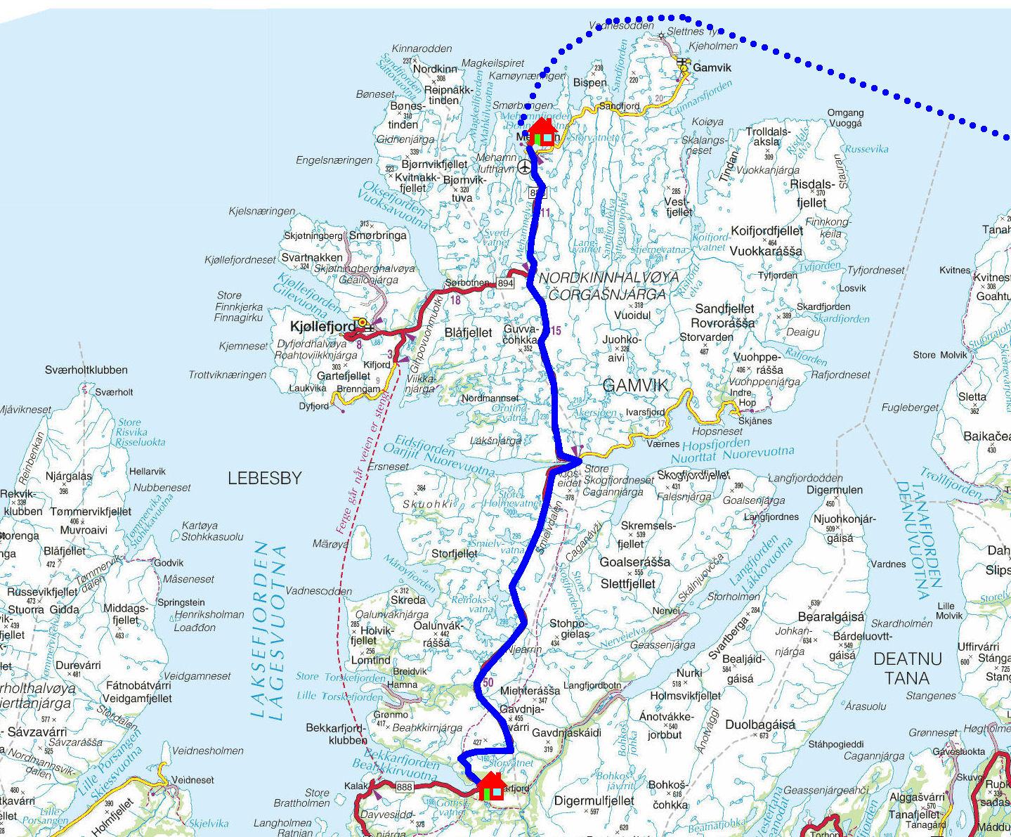 kart mehamn Torstein Reiersen: På kryss og tvers i Finnmark 2012 kart mehamn