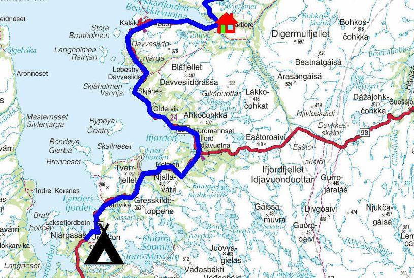 treriksrøysa kart Torstein Reiersen: På kryss og tvers i Finnmark 2012 treriksrøysa kart